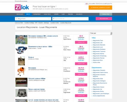 Zilok - Location Maçonnerie - Louer Maçonnerie