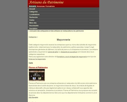 Maçonnerie - Artisans du Patrimoine