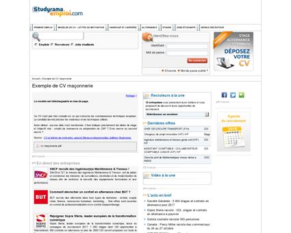 Exemple de CV maçonnerie - Curriculum vitæ...