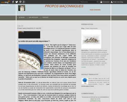 Franc-maçonnerie et sacré - Propos maçonniques