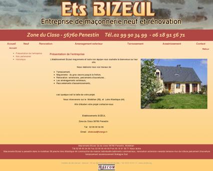 Maconnerie Bizeul à Penestin, Morbihan 56 :...