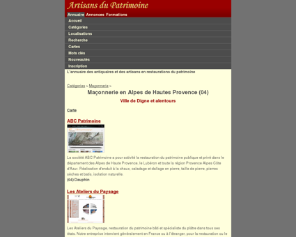 Maçonnerie - Alpes de Hautes Provence (04) ...