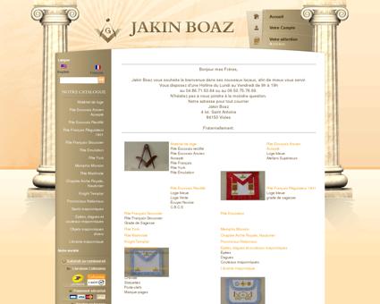 jakin-boaz.net - boutique franc maçonnerie...