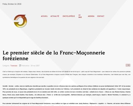 Le premier siècle de la Franc-Maçonnerie...