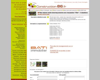 CONSTRUCTION-86.FR > Plan maison mixte...