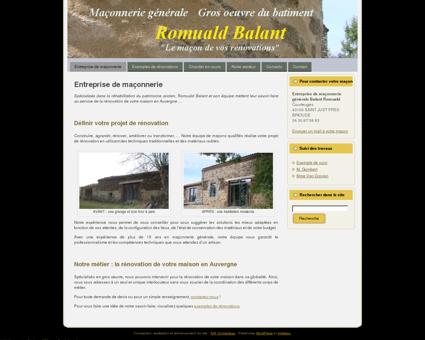 Rénovation maison Auvergne : Romuald Balant ...