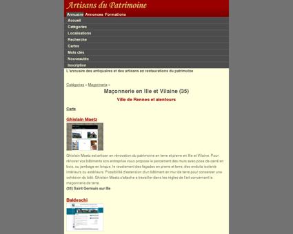 Maçonnerie - Ille et Vilaine (35) - Artisans du...