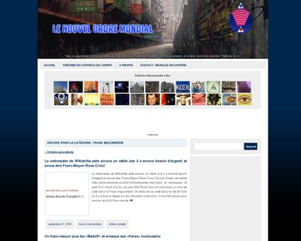 Franc Maçonnerie | Le Nouvel Ordre Mondial