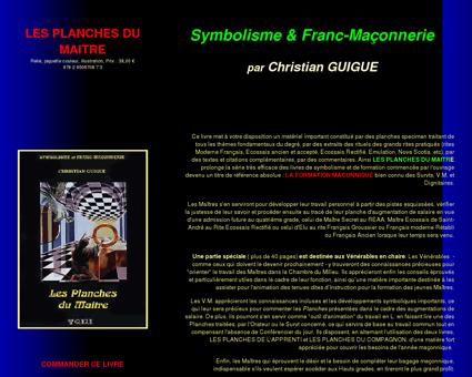 Franc-Maçonnerie - Les Planches du Maître :...