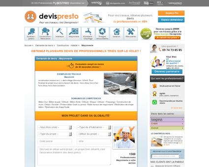 Devis Maçonnerie Gratuits - Devispresto.com