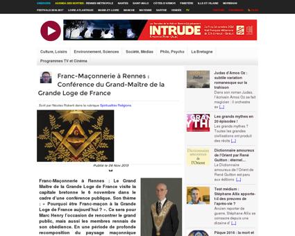Franc-Maçonnerie à Rennes : Conférence du...