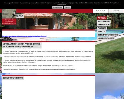 Maçonnerie Rénovation Caujac (31) Cremonese