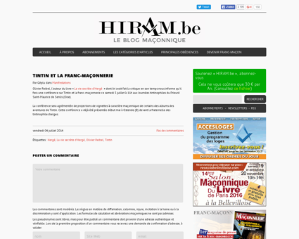 Hiram.be | Tintin et la franc-maçonnerie -...