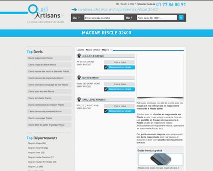 Maçon Riscle 32400