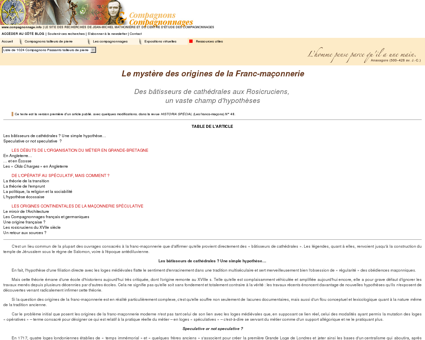 Compagnons & Compagnonnage | Le mystère...