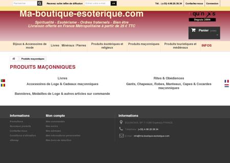 Franc-Maçonnerie - Ma Boutique Esotérique