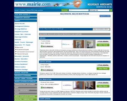 Maçonnerie, maçon Montrouge : Mairie.com