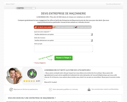 Entreprise Maçonnerie - Votre Devis en 2 clics !