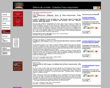 Collection Franc-maçonnerie - EDITIONS DE LA...