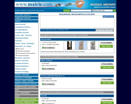 Maçonnerie, maçon Marolles-en-Brie :...