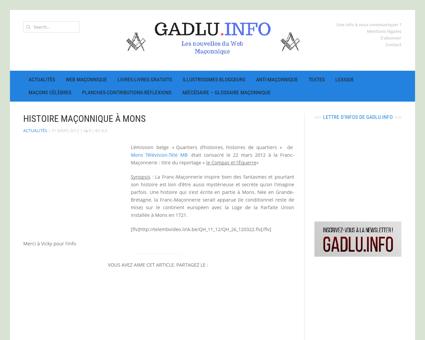 Histoire maçonnique à Mons | GADLU.INFO -...