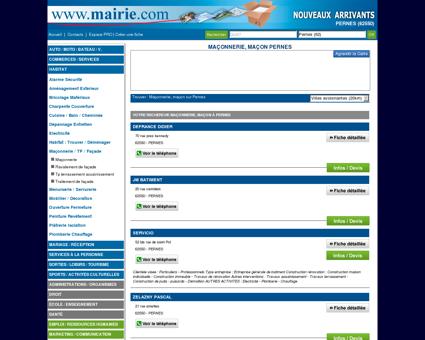 Maçonnerie, maçon Pernes : Mairie.com