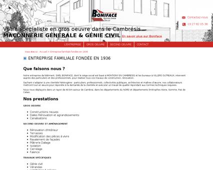 Boniface maçonnerie - L'entreprise, maçon,...