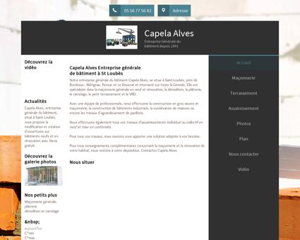 Maçonnerie (entreprises) - Capela Alves à Saint...