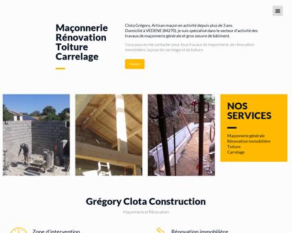 Clota Grégory Construction - Maçonnerie et...