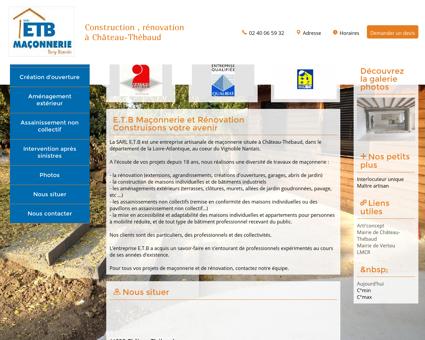 L'entreprise E.T.B à Château-Thébaud (44690)