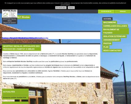 Bâtiment à Gibles (71) | maconnerie-geoffray-71.fr