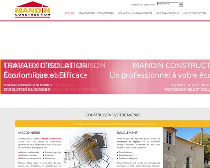 Maçonnerie Mandin, constructeur à Mareuil...