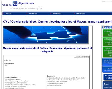 CV de Ouvrier spécialisé cherche emploi de...