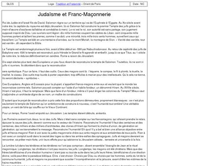3033-1 : Judaïsme et Franc-Maçonnerie - LA...