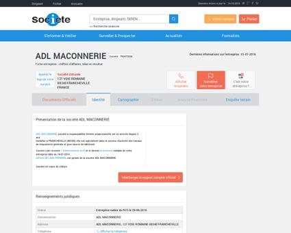 ADL MACONNERIE (FRANCHEVILLE) Chiffre...