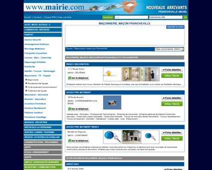 Maçonnerie, maçon Francheville : Mairie.com