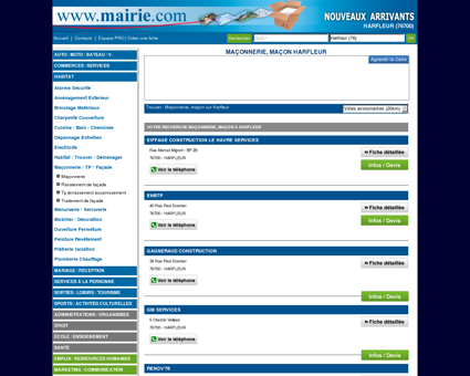 Maçonnerie, maçon Harfleur : Mairie.com