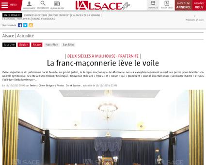 Alsace | La franc-maçonnerie lève le voile