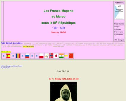 Franc maçonnerie Maroc : Moulay Hafid sultan...
