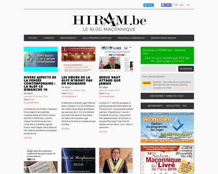 Hiram.be | Le weblog de la Franc-Maçonnerie....