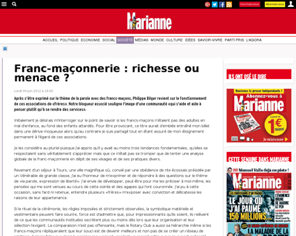 Franc-maçonnerie : richesse ou menace  -...