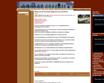 Maçonnerie Générale Bagnols/ceze 30-84-26