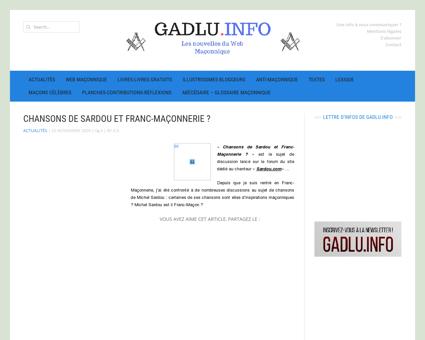 Chansons de Sardou et Franc-Maçonnerie  |...