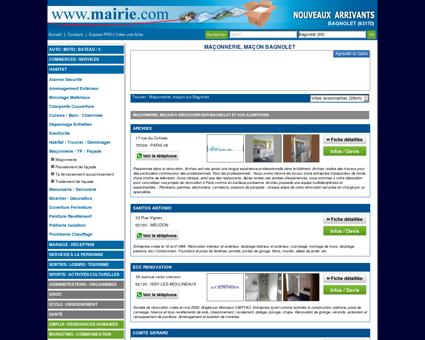 Maçonnerie, maçon Bagnolet : Mairie.com