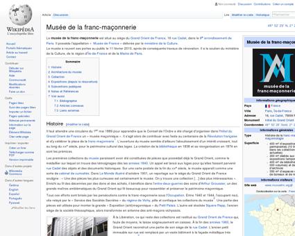 Musée de la franc-maçonnerie  Wikipédia
