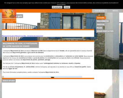 Maconnerie du Gois Beauvoir-sur-Mer (85)