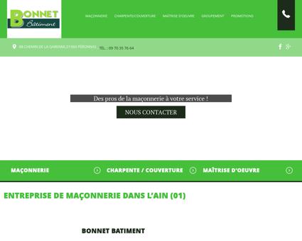 Charpentier, Maçon - Viriat | Sarl Bonnet
