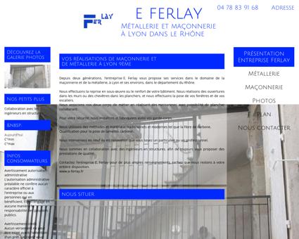 Métallerie - Maçonnerie Ferlay à Lyon