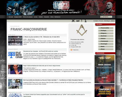 Franc-maçonnerie - Egalite et Réconciliation