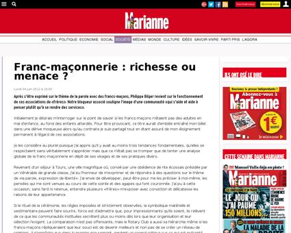 Franc-maçonnerie : richesse ou menace  -...